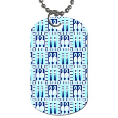 Egyptianpattern Colour Blue Dog Tag (one Side) by Jojostore
