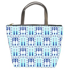 Egyptianpattern Colour Blue Bucket Bags