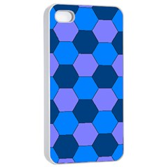 Four Colour Theorem Blue Grey Apple Iphone 4/4s Seamless Case (white) by Jojostore