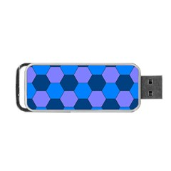 Four Colour Theorem Blue Grey Portable Usb Flash (one Side)
