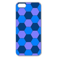 Four Colour Theorem Blue Grey Apple Seamless Iphone 5 Case (clear) by Jojostore