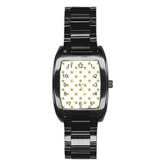 Gold Stars Stainless Steel Barrel Watch
