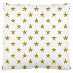 Gold Stars Standard Flano Cushion Case (one Side) by Jojostore