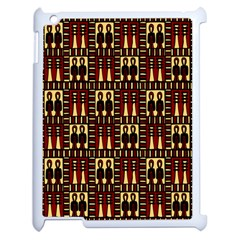 Egyptianpattern Colour Red Apple Ipad 2 Case (white) by Jojostore