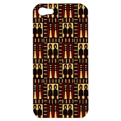 Egyptianpattern Colour Red Apple Iphone 5 Hardshell Case by Jojostore