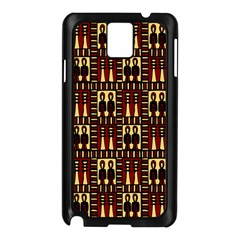 Egyptianpattern Colour Red Samsung Galaxy Note 3 N9005 Case (black)