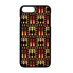 Egyptianpattern Colour Red Apple Iphone 7 Plus Seamless Case (black)