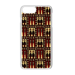 Egyptianpattern Colour Red Apple Iphone 7 Plus White Seamless Case