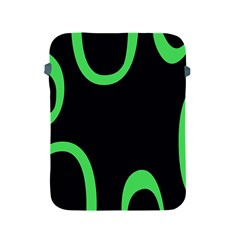 Green Rings Black Apple Ipad 2/3/4 Protective Soft Cases