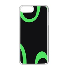 Green Rings Black Apple Iphone 7 Plus White Seamless Case by Jojostore