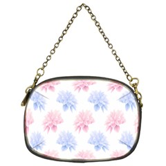 Flower Blue Pink Chain Purses (one Side)  by Jojostore