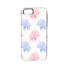 Flower Blue Pink Apple Iphone 5 Classic Hardshell Case (pc+silicone)