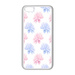 Flower Blue Pink Apple Iphone 5c Seamless Case (white) by Jojostore
