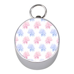 Flower Blue Pink Mini Silver Compasses by Jojostore