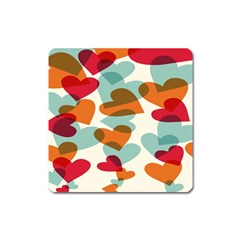 Heart Square Magnet by Jojostore
