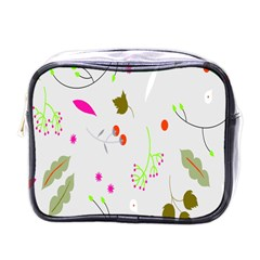 High Res Leaf Flower Fruit Mini Toiletries Bags