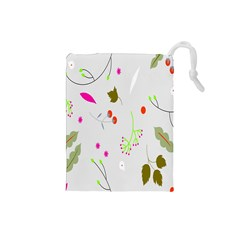 High Res Leaf Flower Fruit Drawstring Pouches (small)