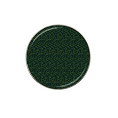 Grid Background Green Hat Clip Ball Marker (4 Pack)