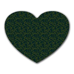 Grid Background Green Heart Mousepads by Jojostore