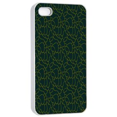 Grid Background Green Apple Iphone 4/4s Seamless Case (white) by Jojostore