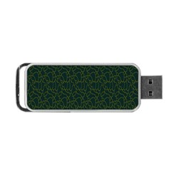 Grid Background Green Portable Usb Flash (two Sides)