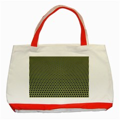 Hexagon Green Classic Tote Bag (red)