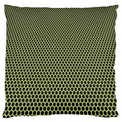 Hexagon Green Large Flano Cushion Case (two Sides) by Jojostore