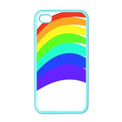 Rainbow Apple Iphone 4 Case (color)