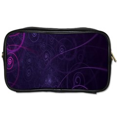Purple Abstract Spiral Toiletries Bags by Jojostore