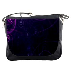 Purple Abstract Spiral Messenger Bags