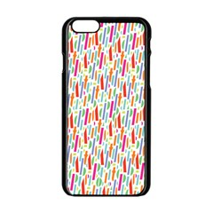 Splash Pattern Color Sign Apple Iphone 6/6s Black Enamel Case by Jojostore