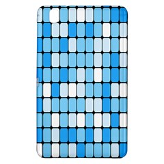 Ronded Square Plaid Blue Samsung Galaxy Tab Pro 8 4 Hardshell Case
