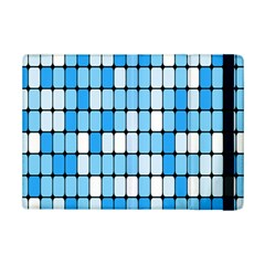 Ronded Square Plaid Blue Ipad Mini 2 Flip Cases by Jojostore