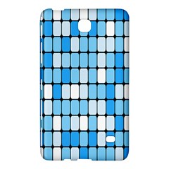 Ronded Square Plaid Blue Samsung Galaxy Tab 4 (8 ) Hardshell Case  by Jojostore