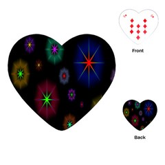 Star Circles Colorful Glitter Playing Cards (heart)