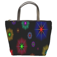 Star Circles Colorful Glitter Bucket Bags by Jojostore