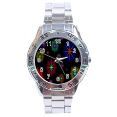 Star Circles Colorful Glitter Stainless Steel Analogue Watch