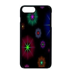 Star Circles Colorful Glitter Apple Iphone 7 Plus Seamless Case (black)