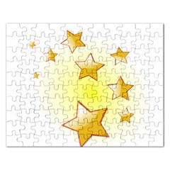 Star Gold Rectangular Jigsaw Puzzl by Jojostore