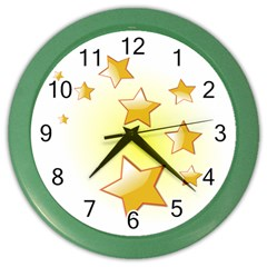 Star Gold Color Wall Clocks by Jojostore