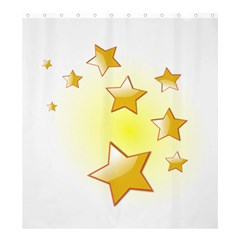 Star Gold Shower Curtain 66  X 72  (large)  by Jojostore