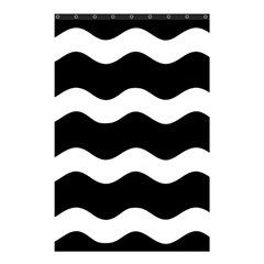 Wave Black Shower Curtain 48  X 72  (small)  by Jojostore