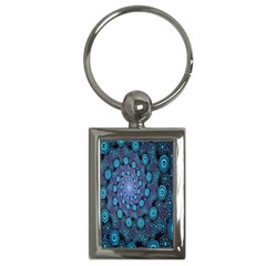 Illusion Spiral Rotation Shape Purple Flower Key Chains (rectangle)  by Jojostore