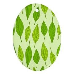 Spring Leaf Green Ornament (oval) by Jojostore