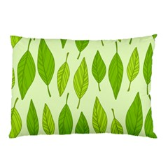 Spring Leaf Green Pillow Case by Jojostore