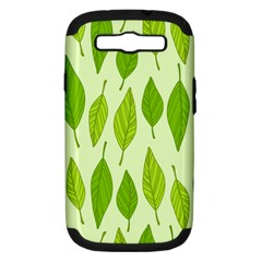 Spring Leaf Green Samsung Galaxy S Iii Hardshell Case (pc+silicone) by Jojostore