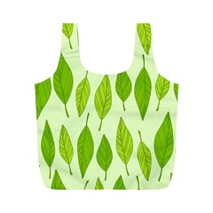 Spring Leaf Green Full Print Recycle Bags (m)