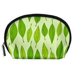 Spring Leaf Green Accessory Pouches (large)