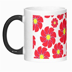 Seamless Floral Flower Red Fan Red Rose Morph Mugs