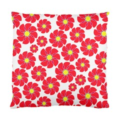 Seamless Floral Flower Red Fan Red Rose Standard Cushion Case (one Side) by Jojostore